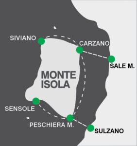 Mappa in chiaro dei Traghetti per montisola