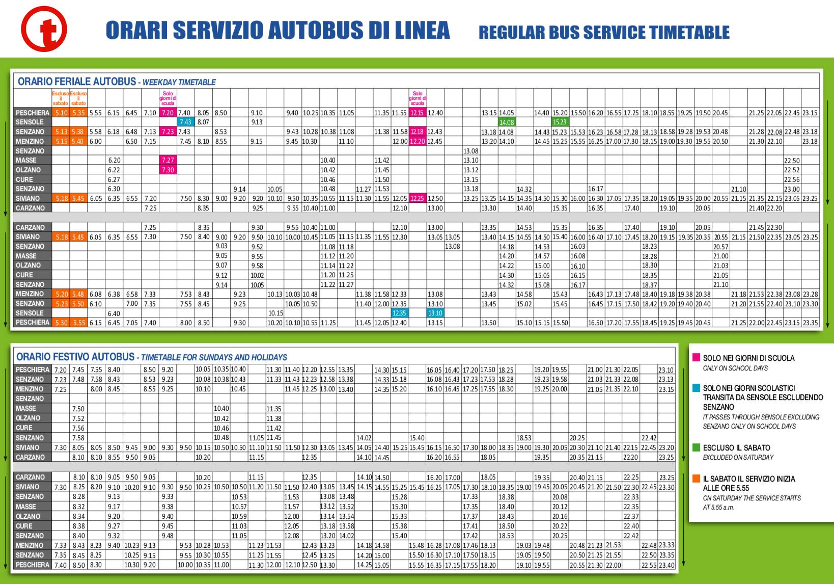 Orario Bus 2020 - MonteIsola