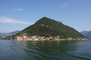 Monte Isola - Vista da Sulzano - lago d'iseo